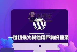 WordPress 一键切换为其他用户身份登录-用户交互(九十三)