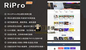 WordPress模板,RiPro主题V5.2原版破解版
