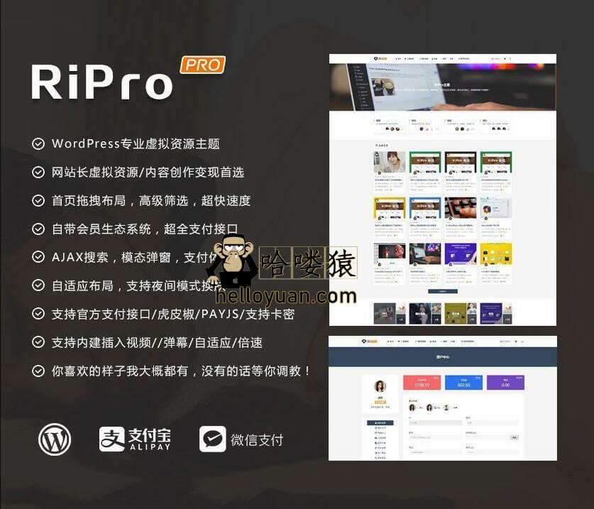 WordPress主题模板_ripro5.5免授权破解源码