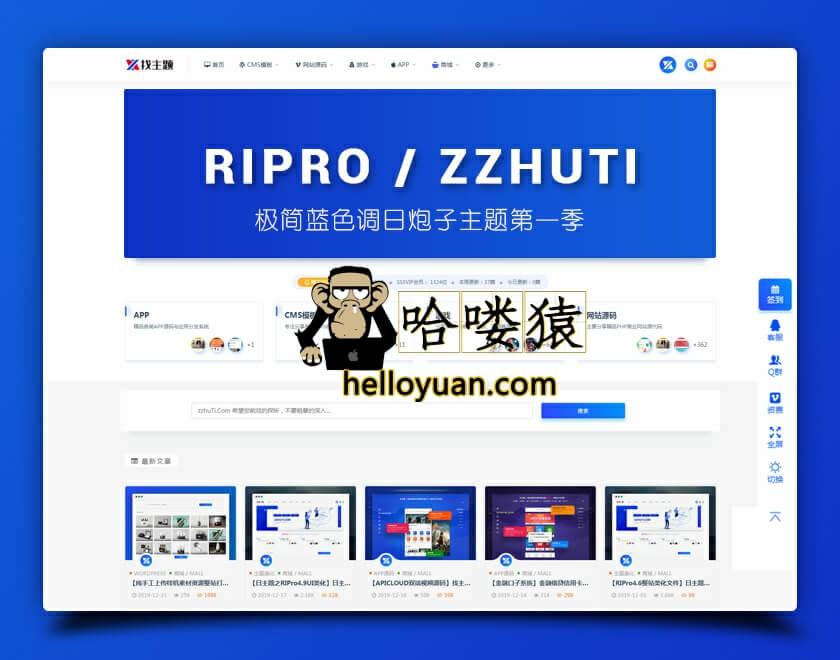RIPro6.4子主题UI美化